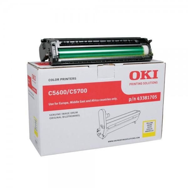 OKI C5600 , C5700 Bildtrommel Yellow