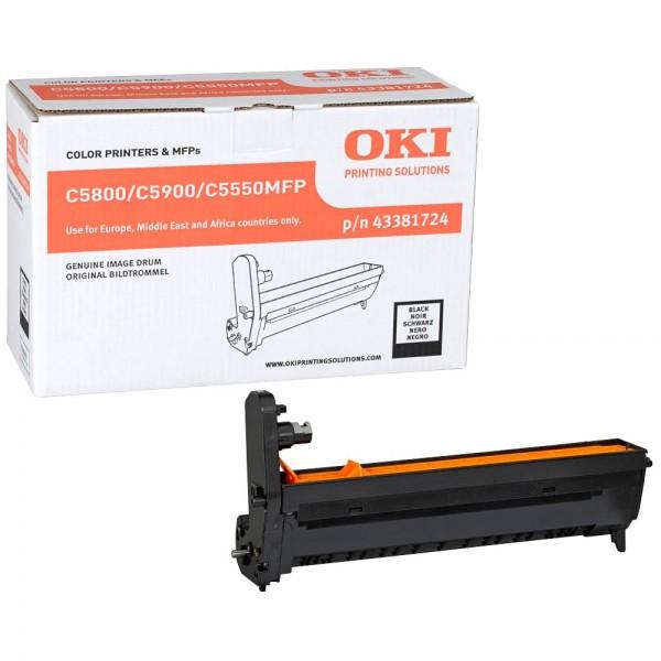 OKI C5800, C5900, C5550MFP Bildtrommel BK