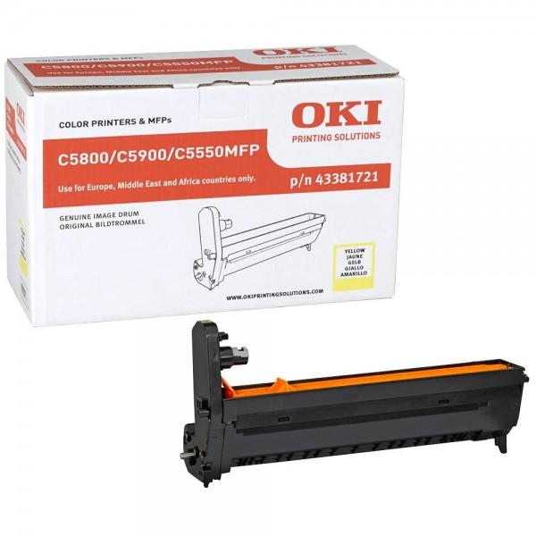 OKI C5800, C5900, C5550MFP Bildtrommel Yellow